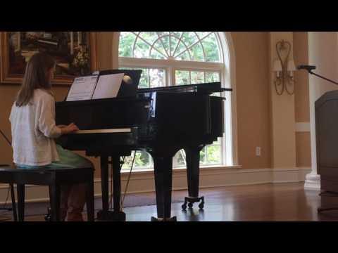 Atlanta Music Education Maggie's piano spring recital performance
