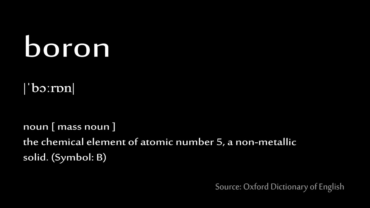 05 boron how to pronounce chemical elements periodic table youtube 05 boron how to pronounce chemical elements periodic table urtaz Images