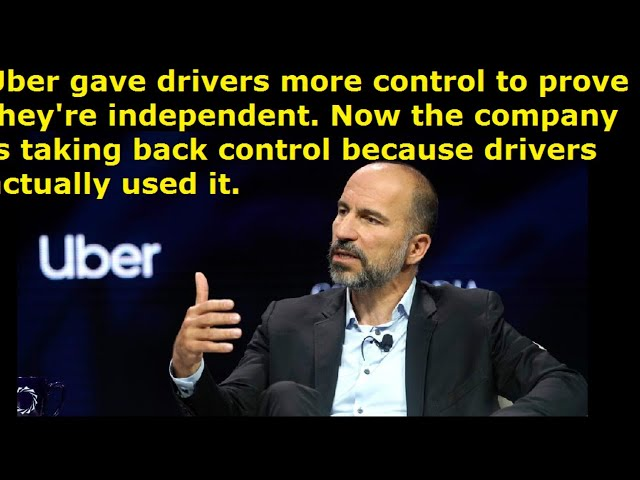 Now Uber Drivers are really screwed. Company takes back control and revokes ability to set prices.