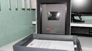 youtube sent me a silver play button reward