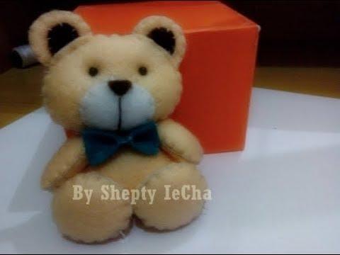 Cara Membuat Boneka Beruang Teddy Bear Dari Kain Flanel