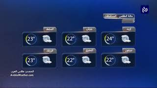 النشرة الجوية الأردنية من رؤيا 21-5-2018