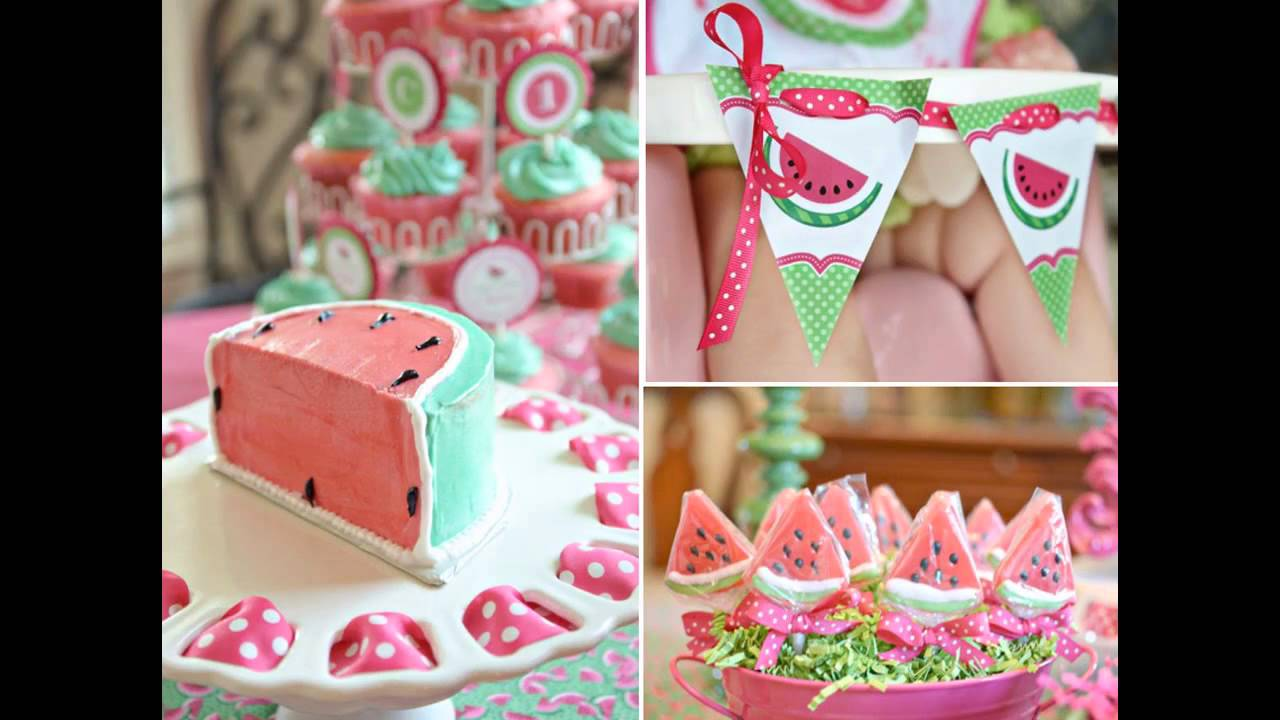 Girl 1st birthday party themes decorations ideas  YouTube ~ 191942_Birthday Decorations Ideas For 1St Birthday