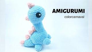 Amigurumi Kadife İp Sevimli Dinazor Yapılışı | Velvet Yarn  Dinosaur Crochet Pattern