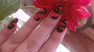 маникюр с помощью скотча/Nail art using tape