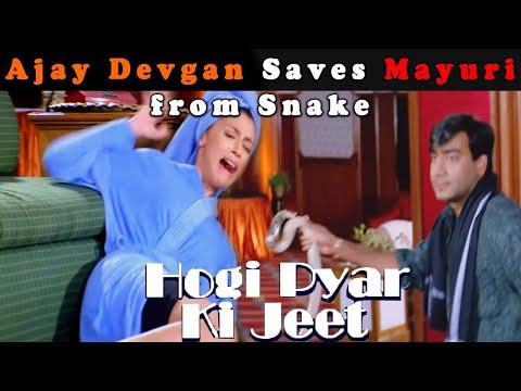 Ajay Devgan Saves Mayuri From Snake | Hogi Pyar Ki Jeet Movie Scene