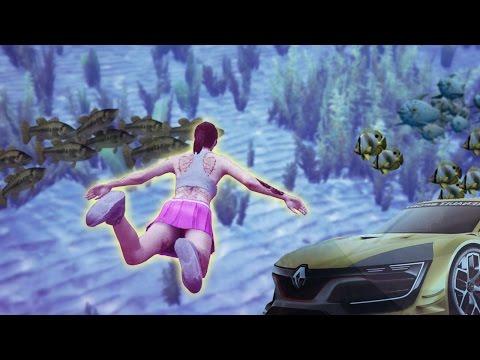 UNDERWATER FISHING IN GTA 5 RACES!!