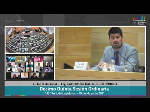 Décimo Quinta Sesión Ordinaria 143 Periodo Legislativo -  19 de Mayo 2021