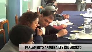 PARLAMENTO APRUEBA LEY DEL ABORTO