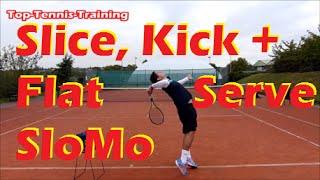 Tennis Serve Technique    Slow Motion