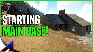 Starting Main Base!   Solo PvP   ARK: Survival Evolved   Ep 4