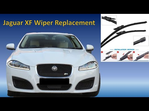 How to replace Jaguar XF wiper blades