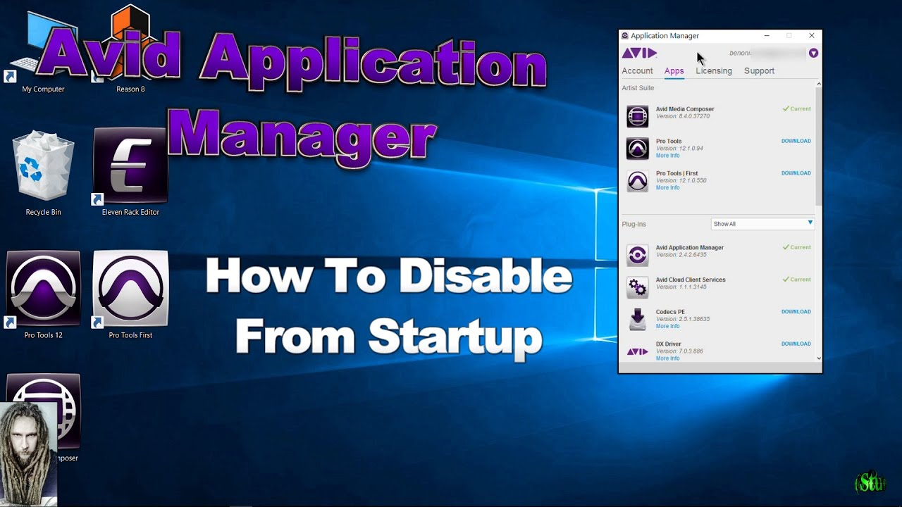 How To Stop The Avid Application Manager From Launching At
