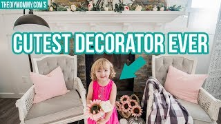 Fall Mantel Decor Tips (from a 4 year old)