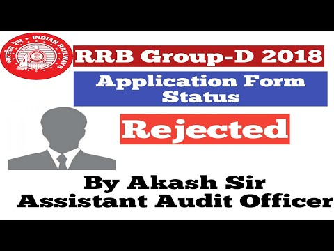 RRB Group-D 2018||Application Form Status||Check Now