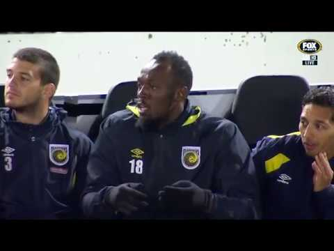 Extended Highlights from Usain Bolt's trail match: Central Coast Mariners v Central Coast Select