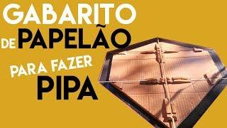 COMO FAZER GABARITO DE PIPA COM PAPELÃO E PRENDEDOR   DICA DE PIPEIRO