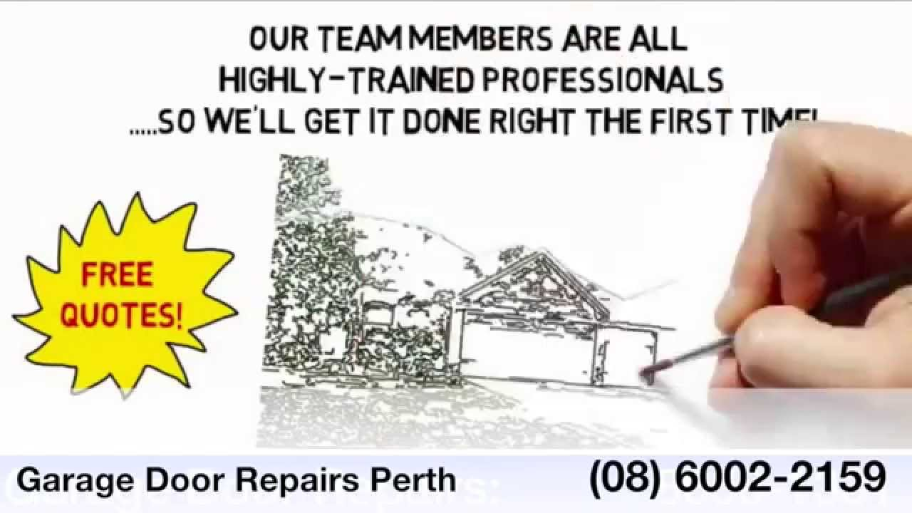 Garage Door Repairs Perth Garage Roller Door Repairs Youtube