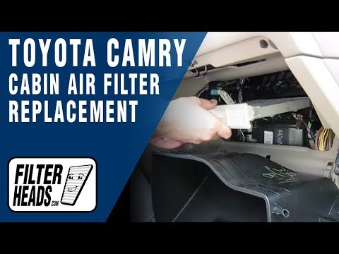 how to replace cabin air filter toyota camry youtube. Black Bedroom Furniture Sets. Home Design Ideas
