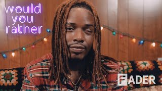Fetty Wap creates his own parade, teleports his car, and hates neon colors in 'Would You Rather'