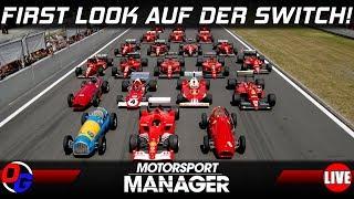 First Look auf Nintendo Switch | MOTORSPORT MANAGER Gameplay German | Lets Play Deutsch