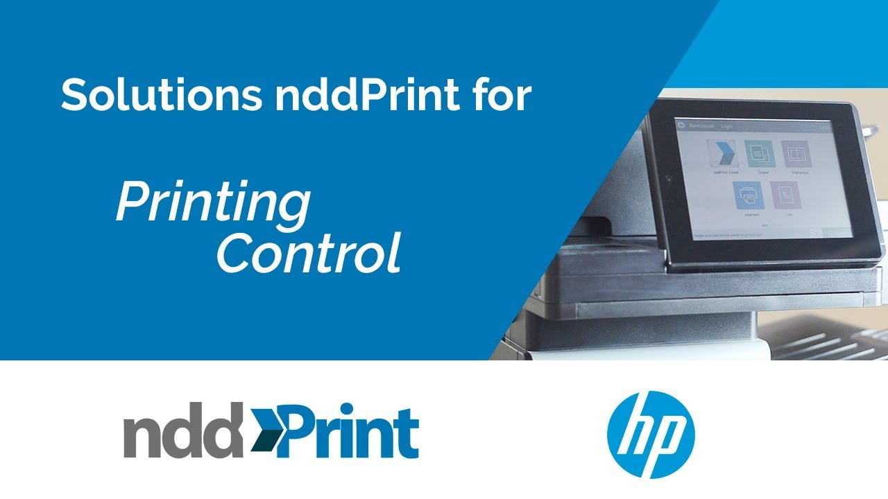 nddPrint solutions tailored for HP printers