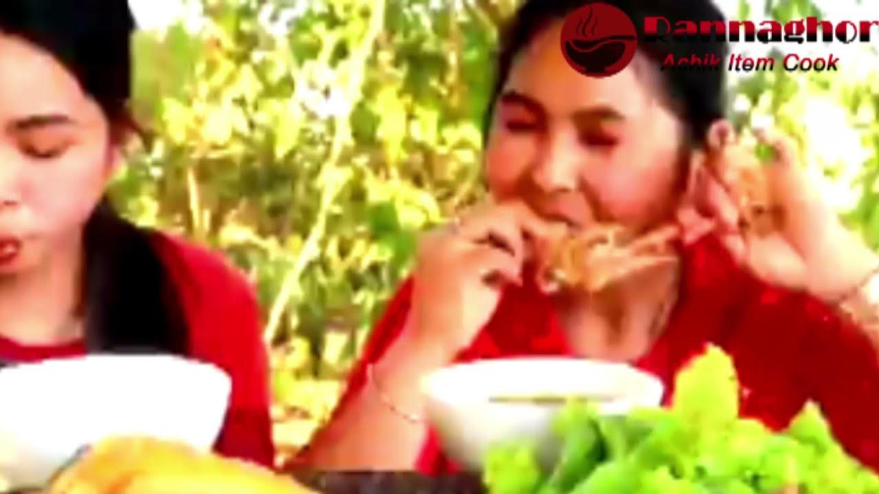 Two Garo Village Girl Cooking Chicken With Watermelon Recipe|| Rannaghor People Blog- 2021