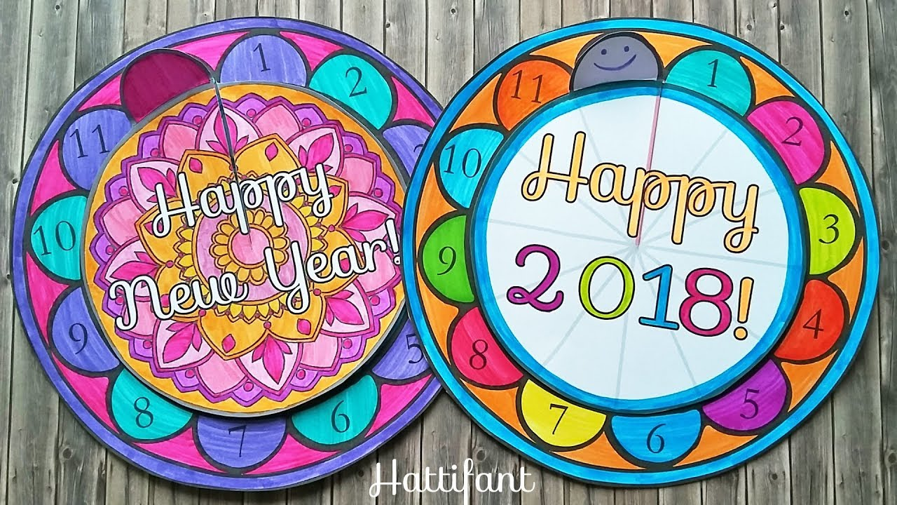 hattifant new year countdown clock papercraft incl free templates