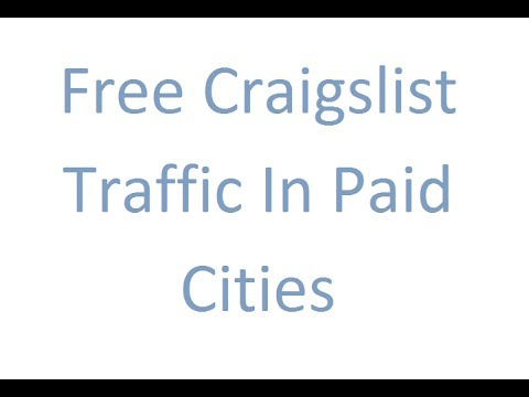 How To Post For Free In Paid Cities [Craigslist]