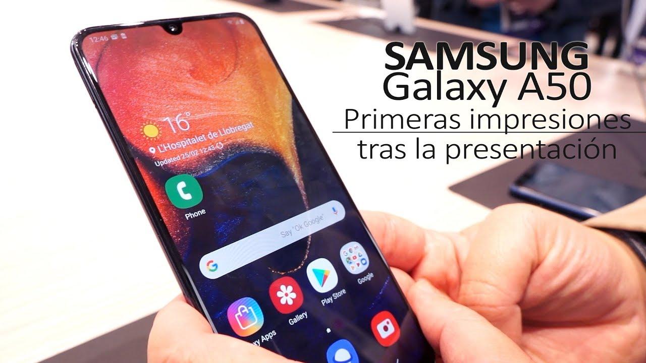 Samsung Galaxy A50: Análisis en el MWC19 - YouTube