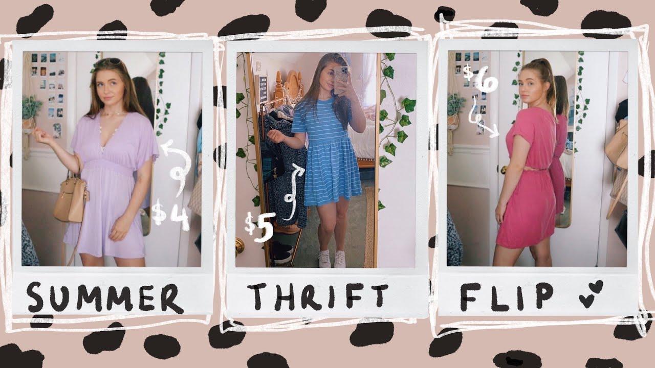 THRIFT FLIP: summer dresses, matching sets & scrunchies (my best flips yet)