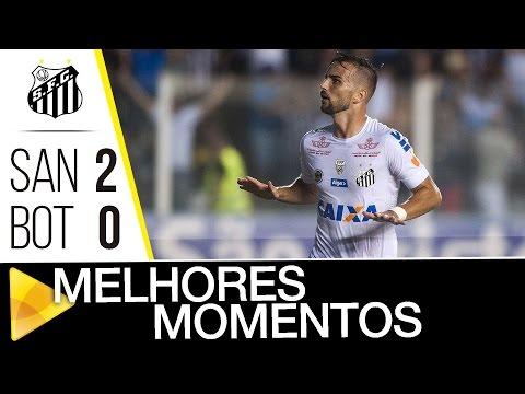 Santos 2 x 0 Botafogo-SP | MELHORES MOMENTOS | Paulistão (25/02/17)