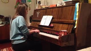 Зимний вечер пианино с рождеством Учимся играть на пианино