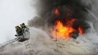 Großbrand in Piding