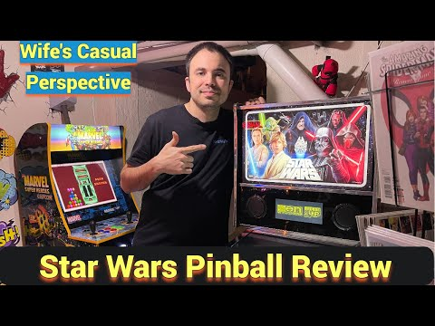 Star Wars Pinball Arcade1up Review - Compared to 4k Virtual Pinball + Wife Gives Impressions from UrGamingTechie