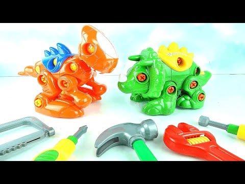 Learn Create Dinosaur Names Rex Triceratops For Kids Toddler Toys Learning Dino DIY Children Babies