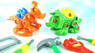 Learn Create Dinosaur Names Rex Triceratops For Kids Toddler Toys Learning Dino DIY Children Babies