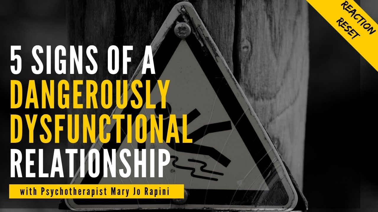 5 Signs of a Dangerously Dysfunctional Relationship - YouTube