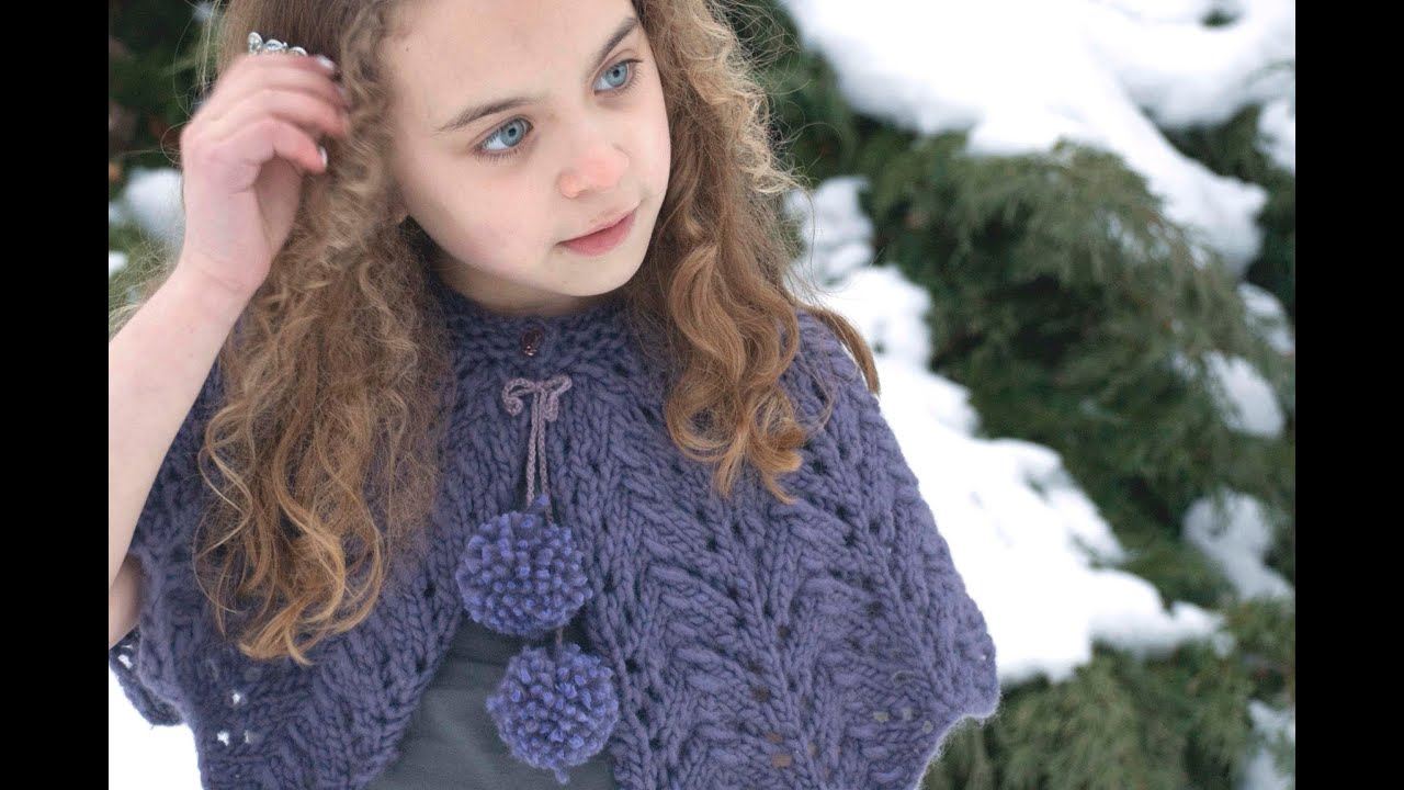 Knitting Pattern For Baby Capelet : How to knit the beautiful lace stitch featured in the Lace Capelet knitting p...