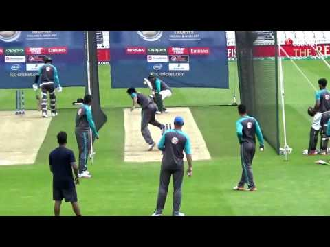 Pakistan cricket team practice at Kennington Oval, London