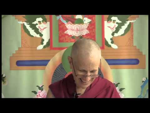 "Ven. Chodron reads from ""Cultivating a Compassionate Heart: The Yoga Method of Chenrezig"""