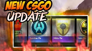 NEW CSGO Update + CSGO PINS OPENING