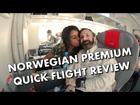 NORWEGIAN PREMIUM - QUICK FLIGHT REVIEW / SEAT VIEW - LGW-LAX