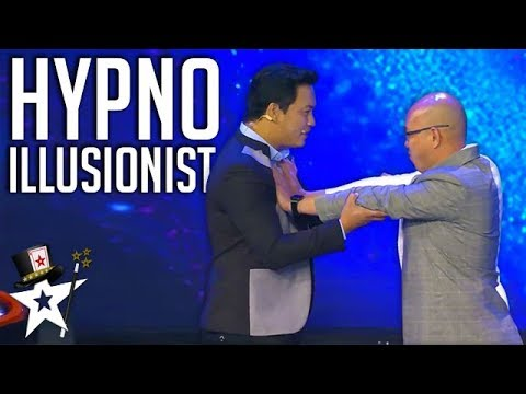 Illusionist Hypnotises Judge on Stage! | Myanmar's Got Talent | Got Talent Global