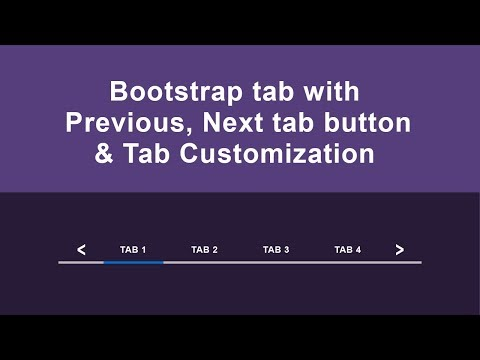 Bootstrap 3 tab with previous & next button & bootstrap customization