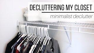 DECLUTTERING MY CLOSET & PUTTING AWAY SUMMER CLOTHES