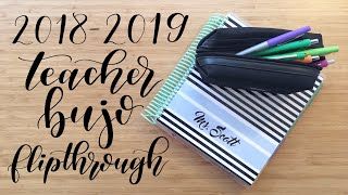 My Teaching Setup | Flip Through | Teacher Bullet Journal 2018-2019