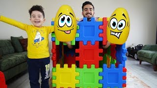 Yusuf'a Renkli Küpte Sürpriz Yumurtalar! Kids pretend play with giant surprise eggs