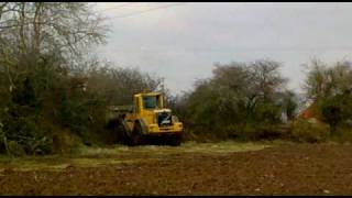 Volvo L90E Loader Clearing Headland
