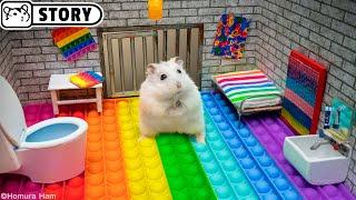 El hámster se escapa del laberinto Pop It para mascotas en la vida real  Homura Ham
